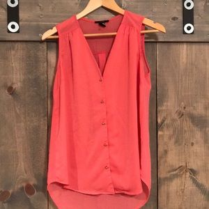 Forever 21 sheer sleeveless blouse